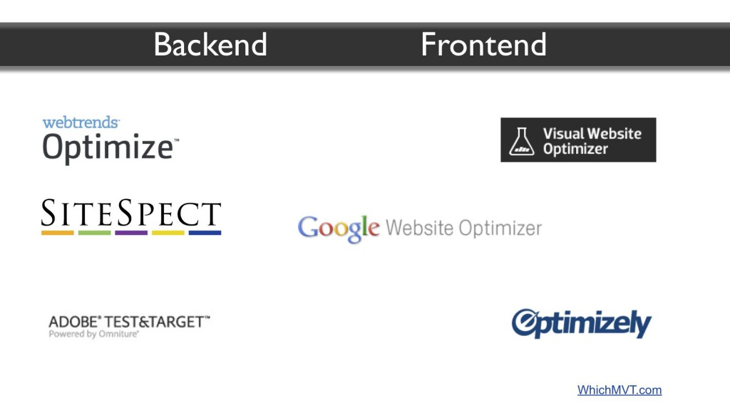 MVT tools from backend to frontend focus