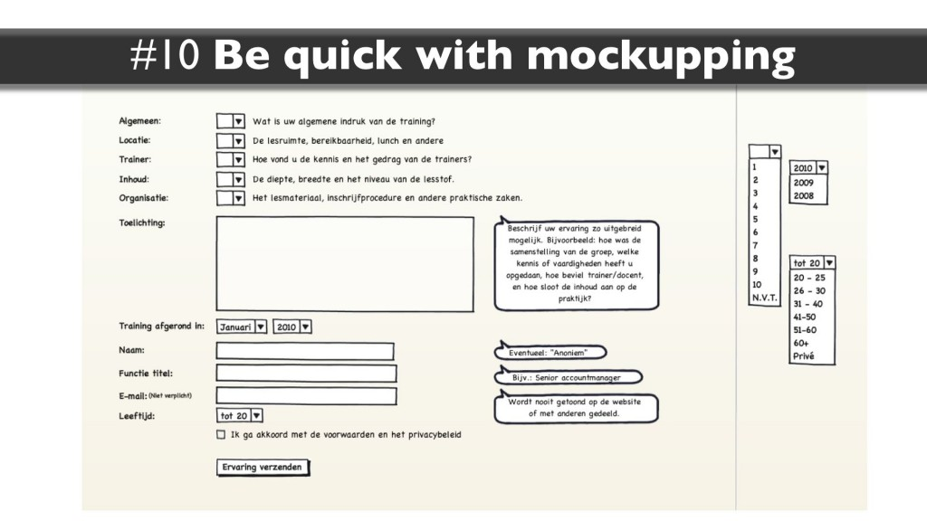 Skill #10: Be quick with mockups