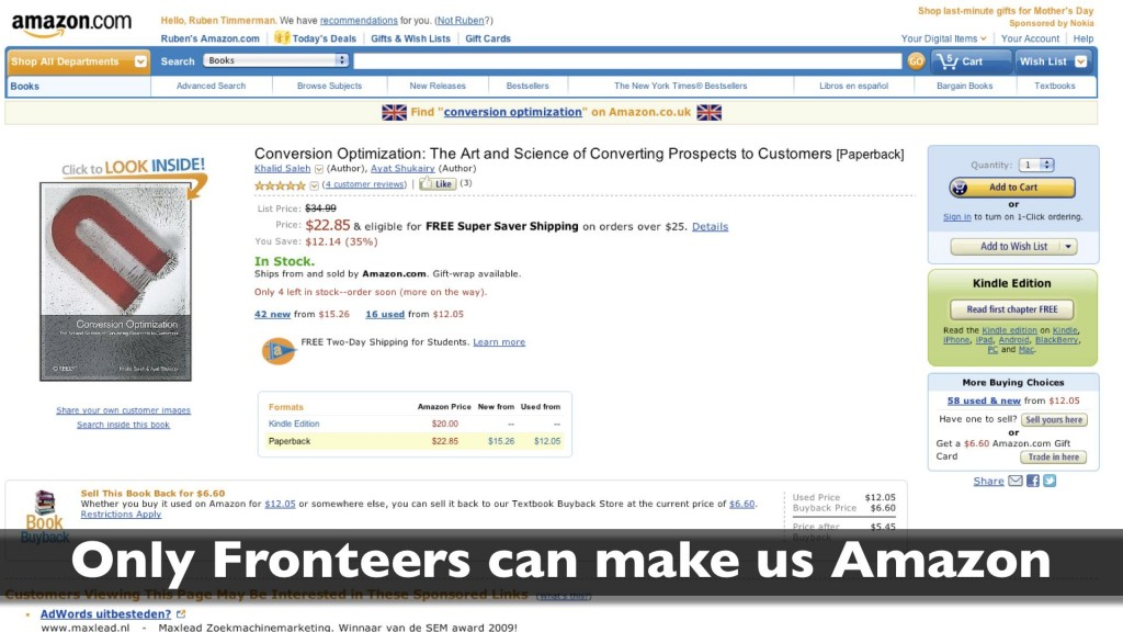 Fronteers can make us Amazon